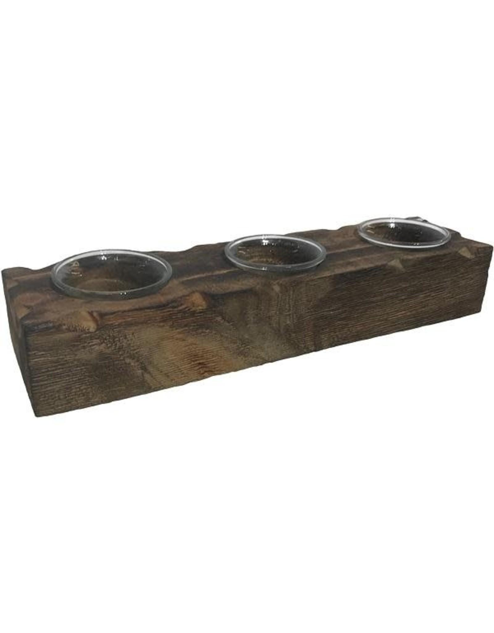 Bougeoirs sur base en bois