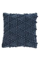 """Coussin européen en tricot marine 25"""" x 25"""""""