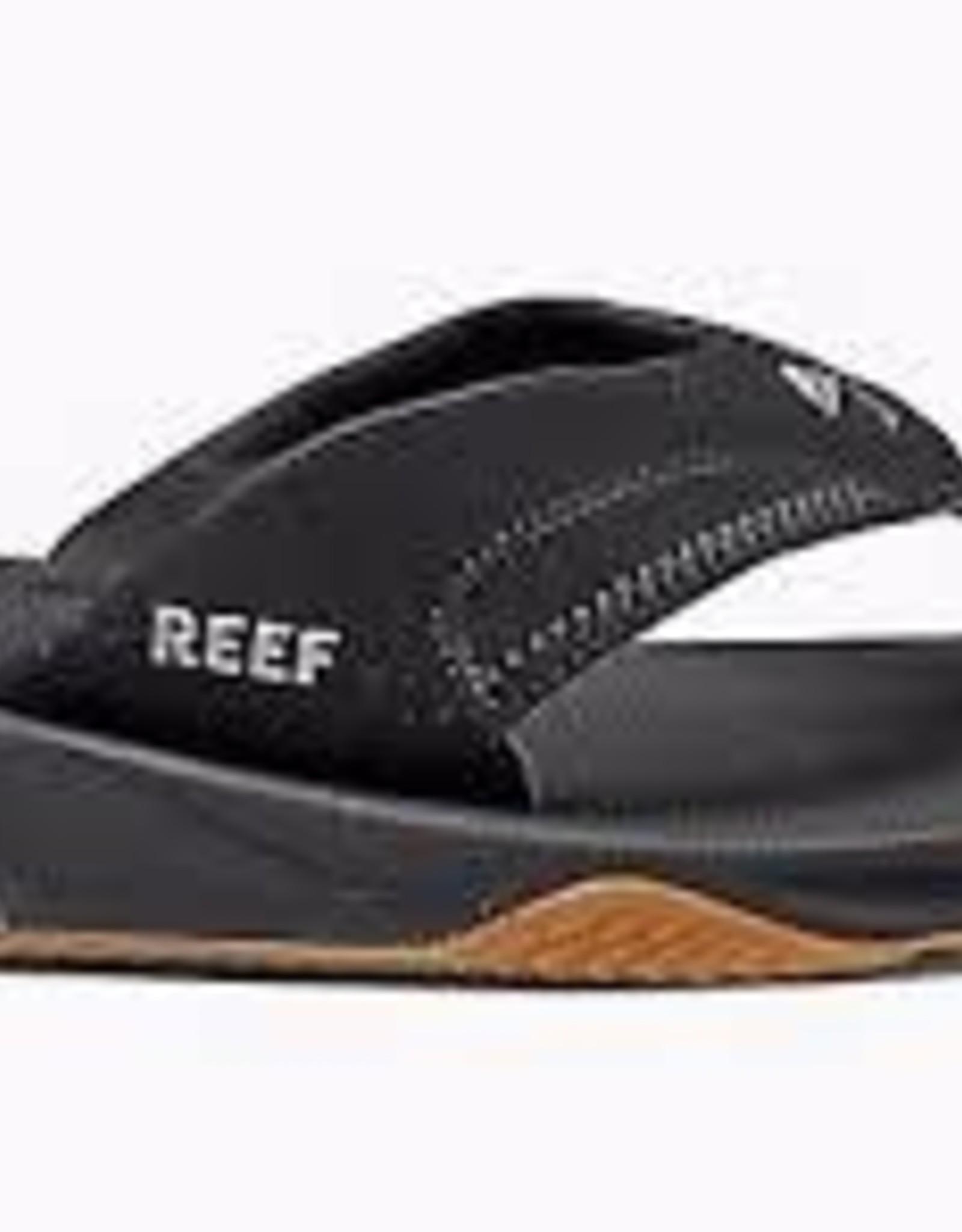 reef reef fanning mens black/silver