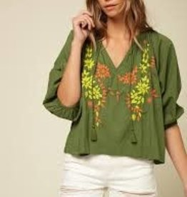 oneill Oneill Aven Embroidered Blouse FA0404010