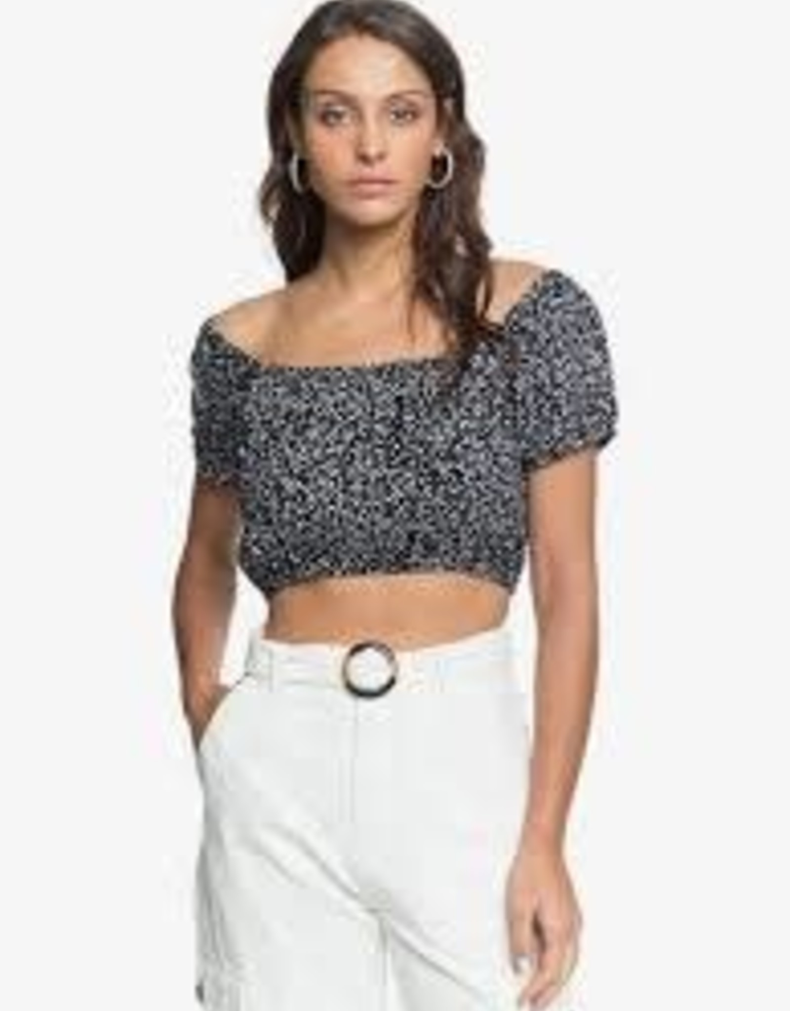 Roxy Roxy Glass Of Gold Crop Top ERJWT03453