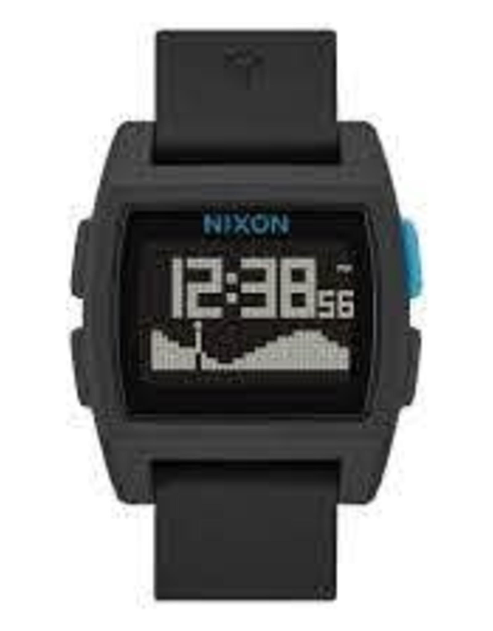 nixon nixon base tide watch black/blue
