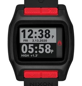 nixon nixon high tide watch black/red