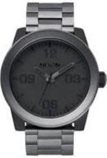 nixon nixon corporal ss watch matte black/matte gunmetal