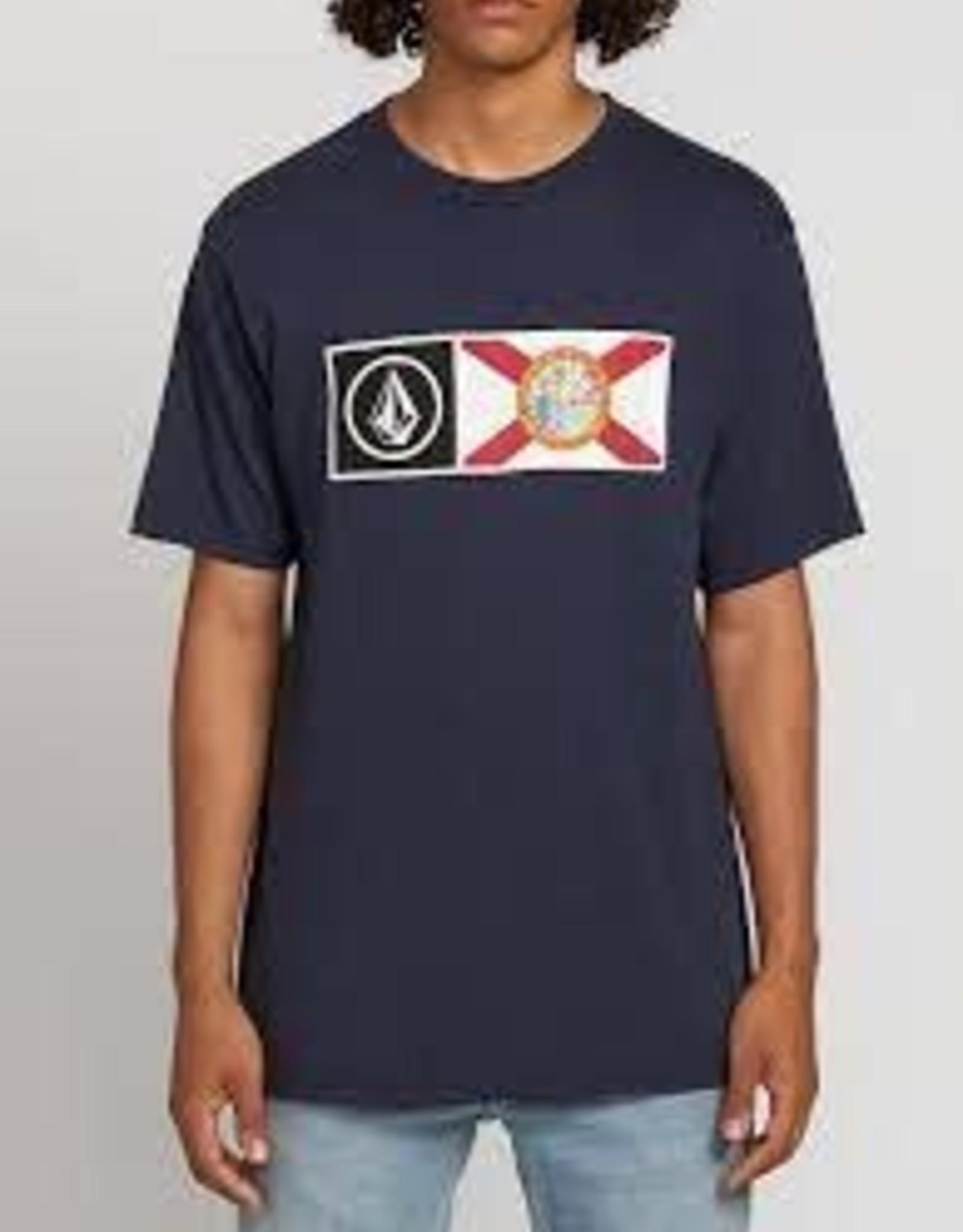 volcom volcom florida flag s/s tshirt