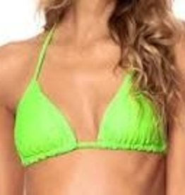 Maaji Maaji Limeade Green Edge Sliding Triangle Bikini Top 3267STR001