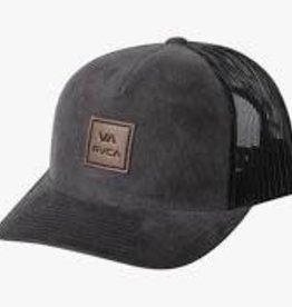 rvca rvca va atw curved brim trucker hat dgy