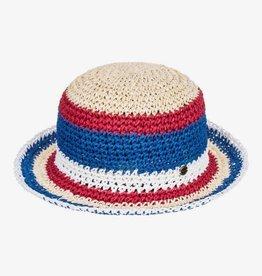 Roxy Roxy Summer Mood Straw Bucket Hat Striped YEF0