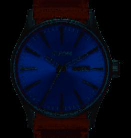 nixon senty leather blue/brown