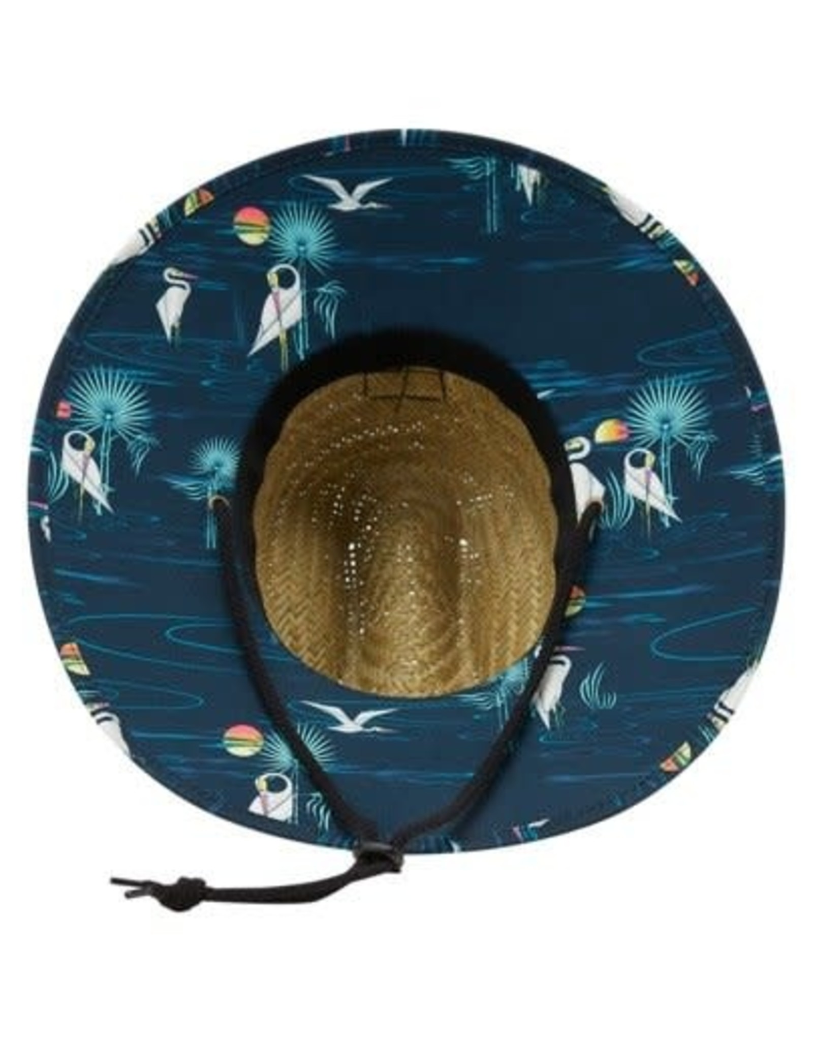 Billabong Tides Print Straw Hat  NVY