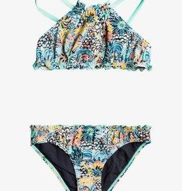 Roxy Roxy Marine Bloom Ruffle Edge Bikini ERLX203130