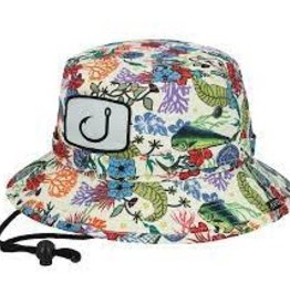 avid avid baja boonie bucket hat fish floral