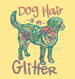 Dog Hair Glitter Short Sleeve Tee
