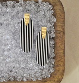 Black & White Stripe Earring