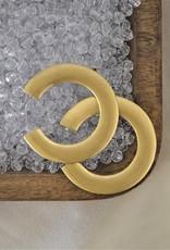 Flat Gold Hoops