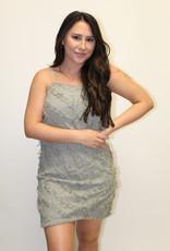 Sage Textured Shift Dress