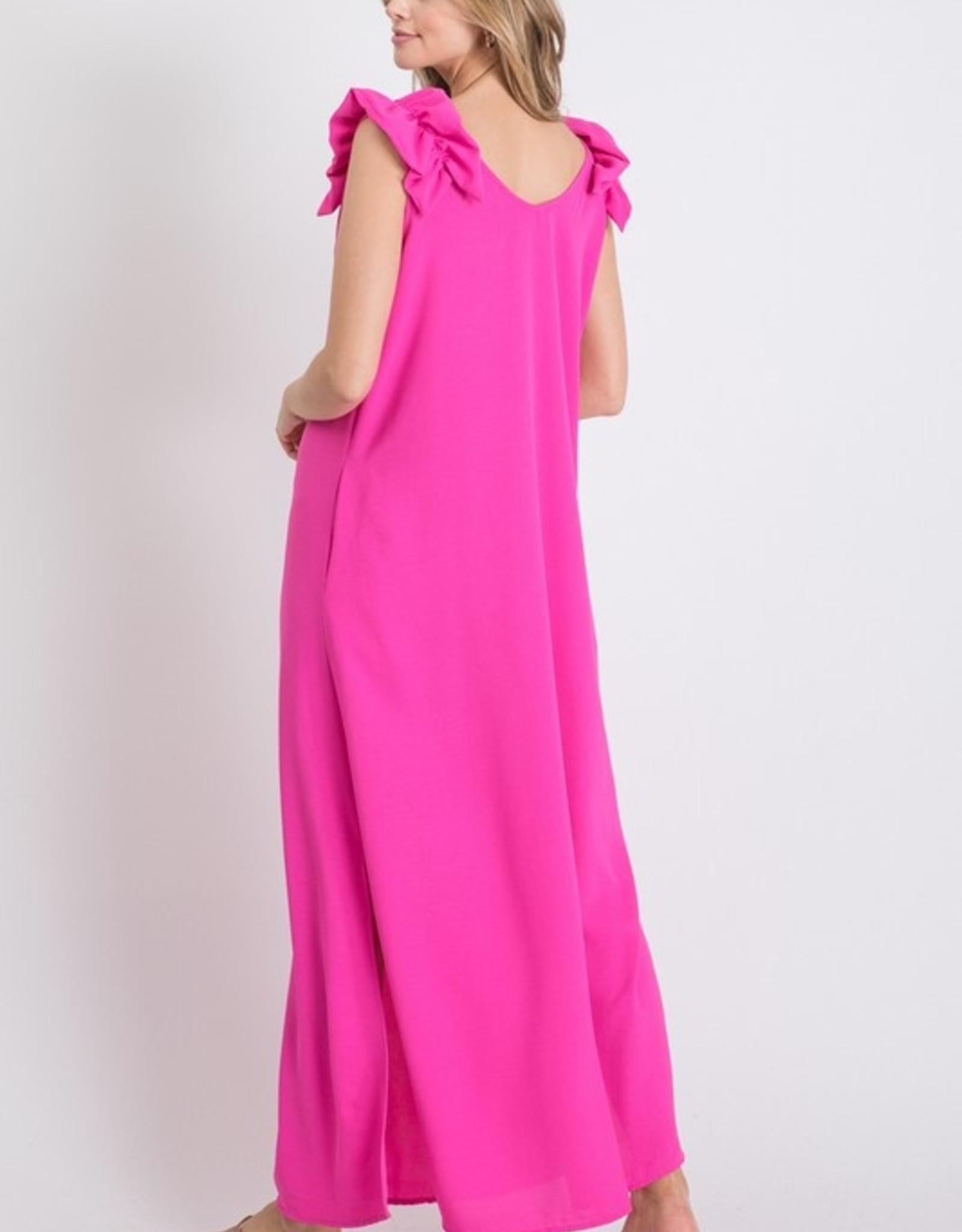 Totally Pink Ruffled Maxi