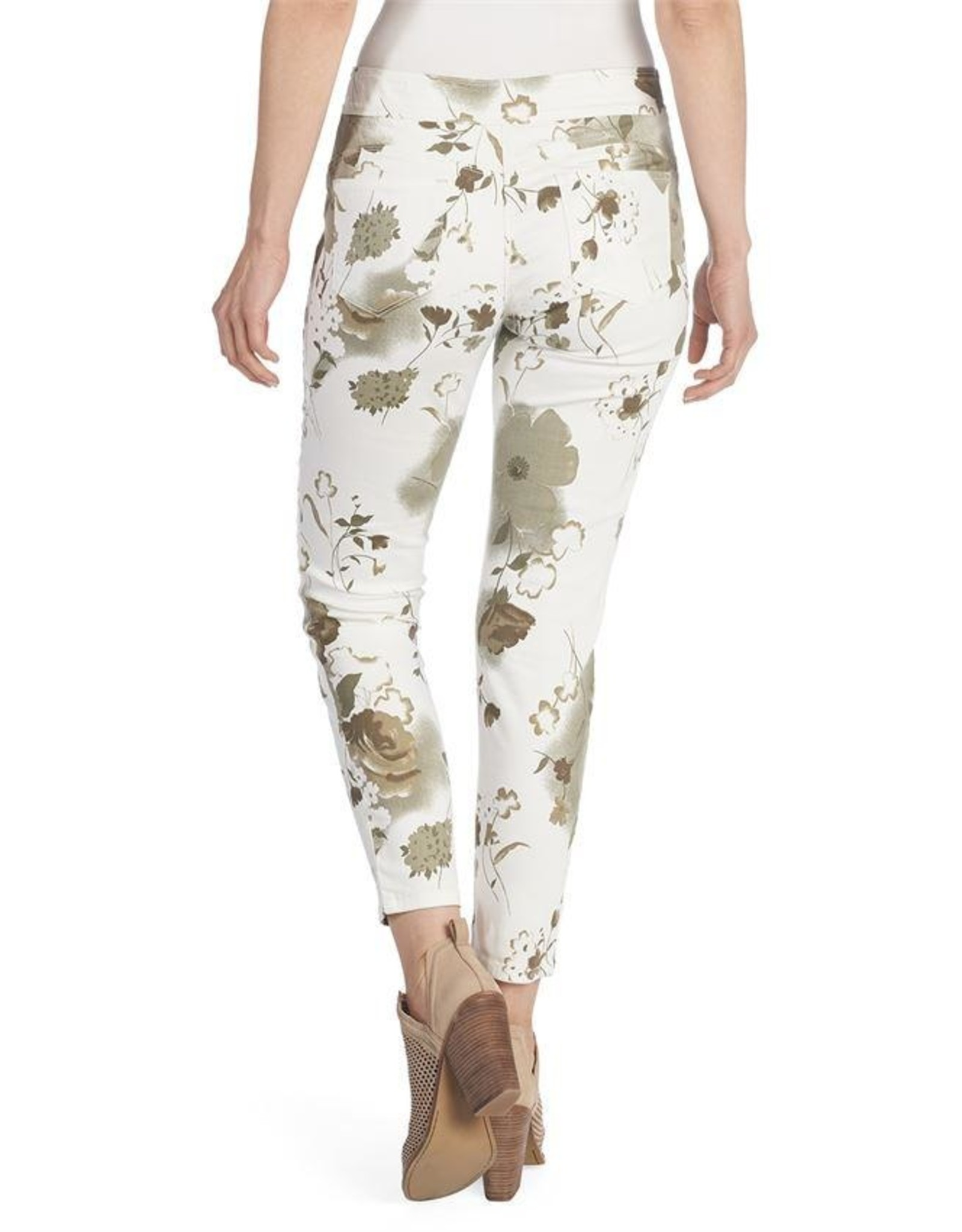 OMG Cream Floral Jeans