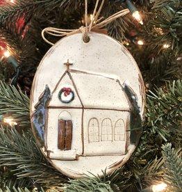 Farmhouse Ornament Church