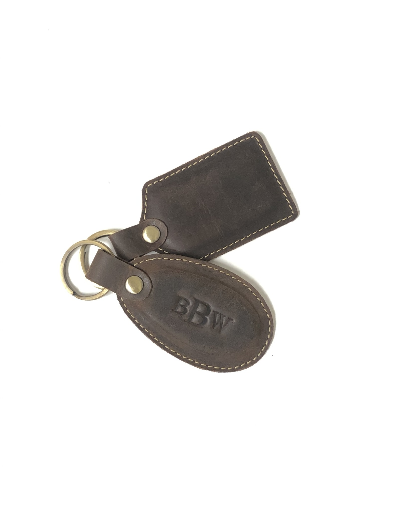 Leather Key Fob with Embossing