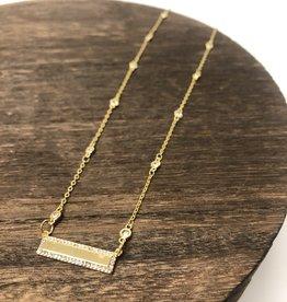 Pave Bar Necklace