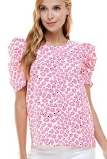 Pretty & Pink Puff Sleeve Blouse