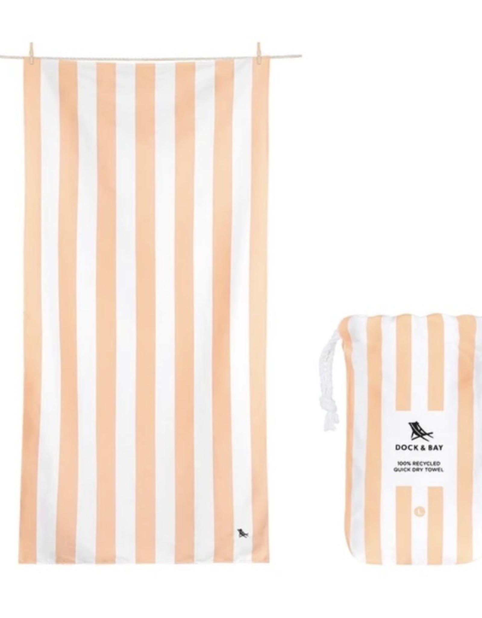 Quick Dry Towel-Cabana Positano Peach LG