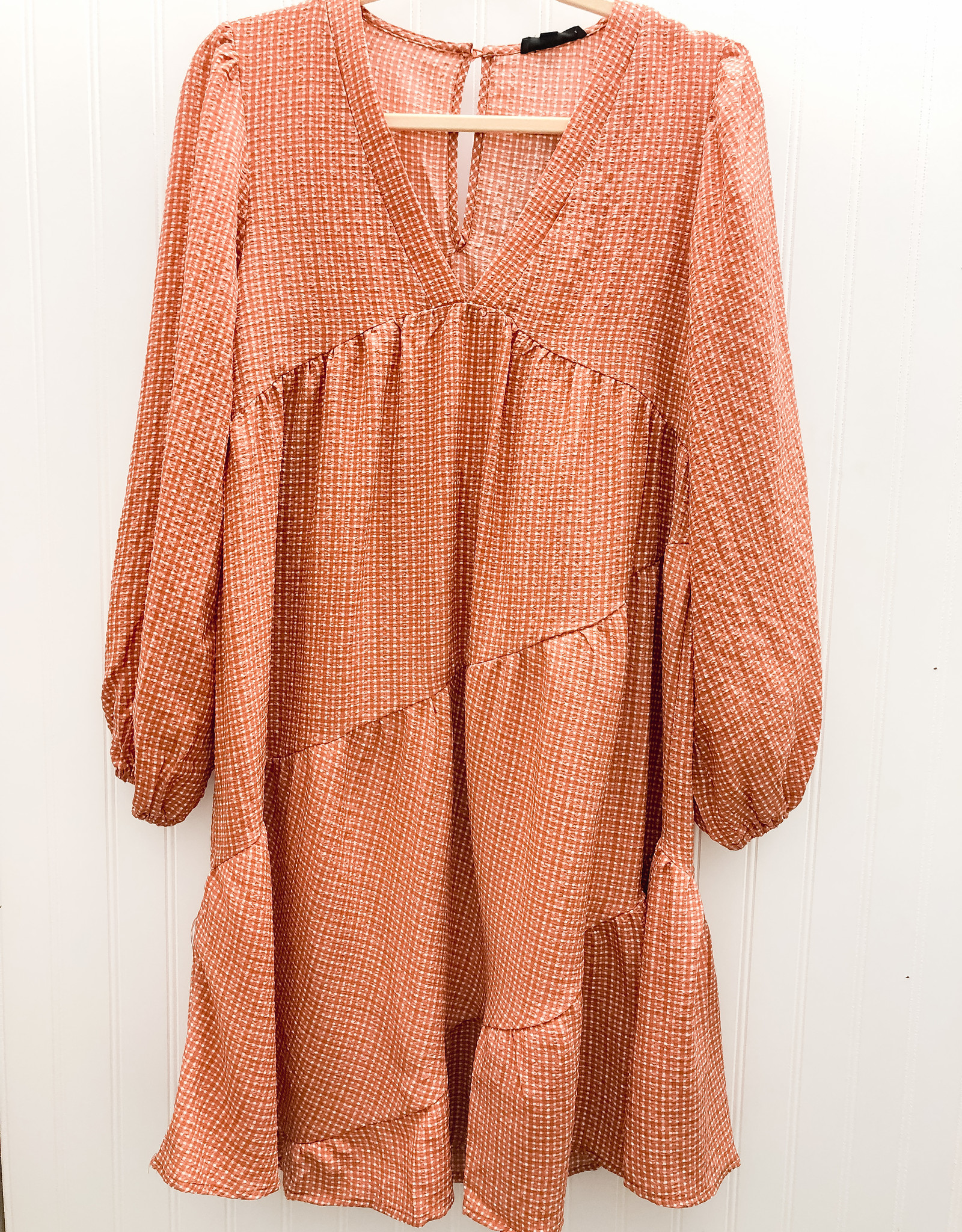 Mittoshop.com Gingham Tiered Baby Doll Dress