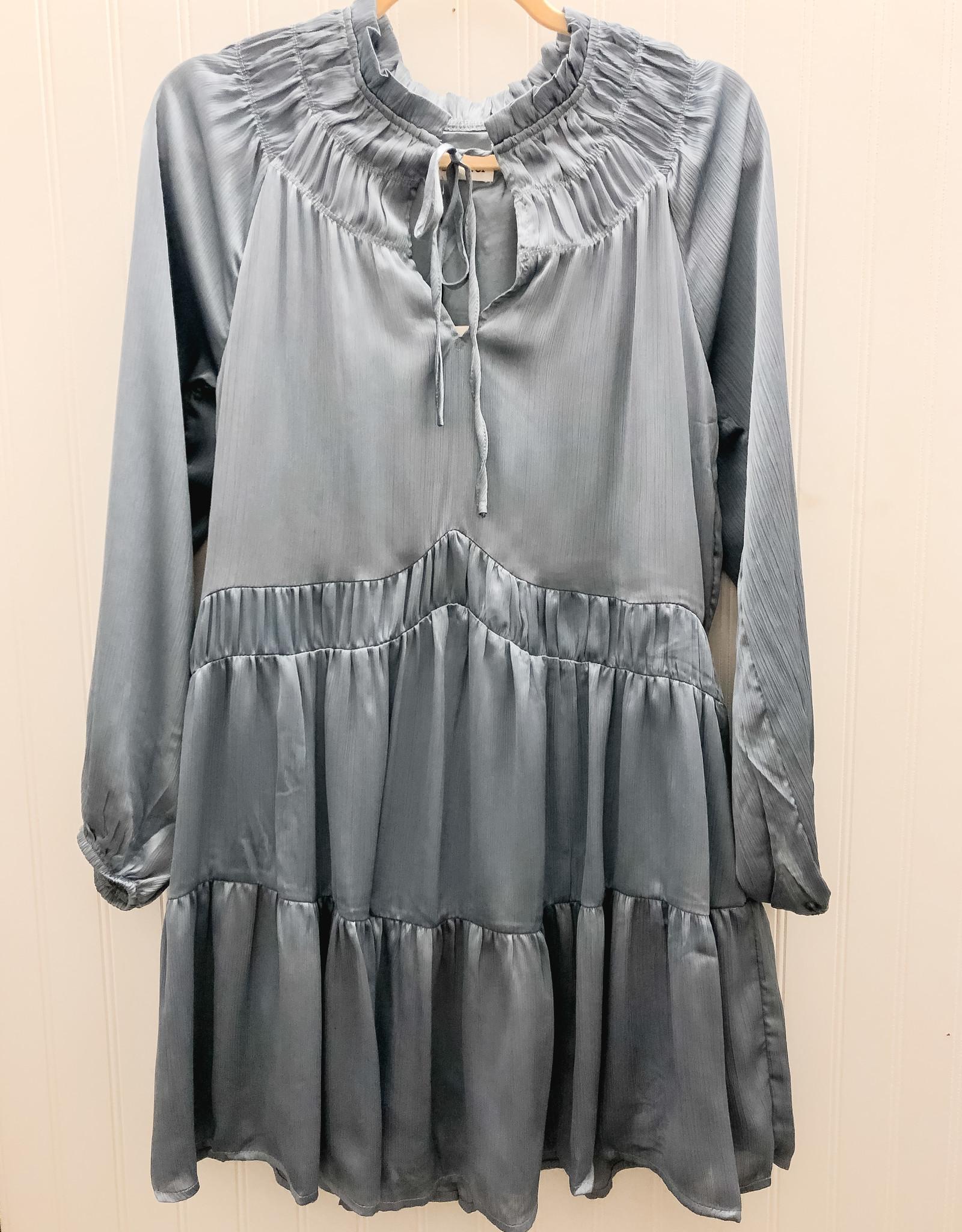 Key Hole Satin Dress