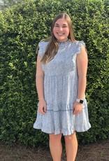 Abstract Ruffle Dress