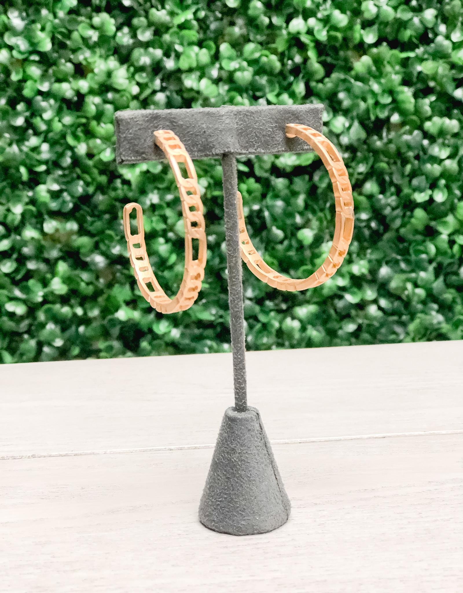 Canvas Jewelry Hoop Earrings Chain Link