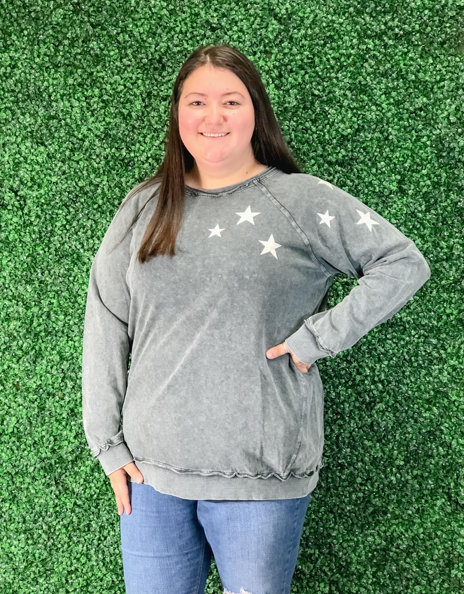 LS Star Terry Knit Sweatshirt