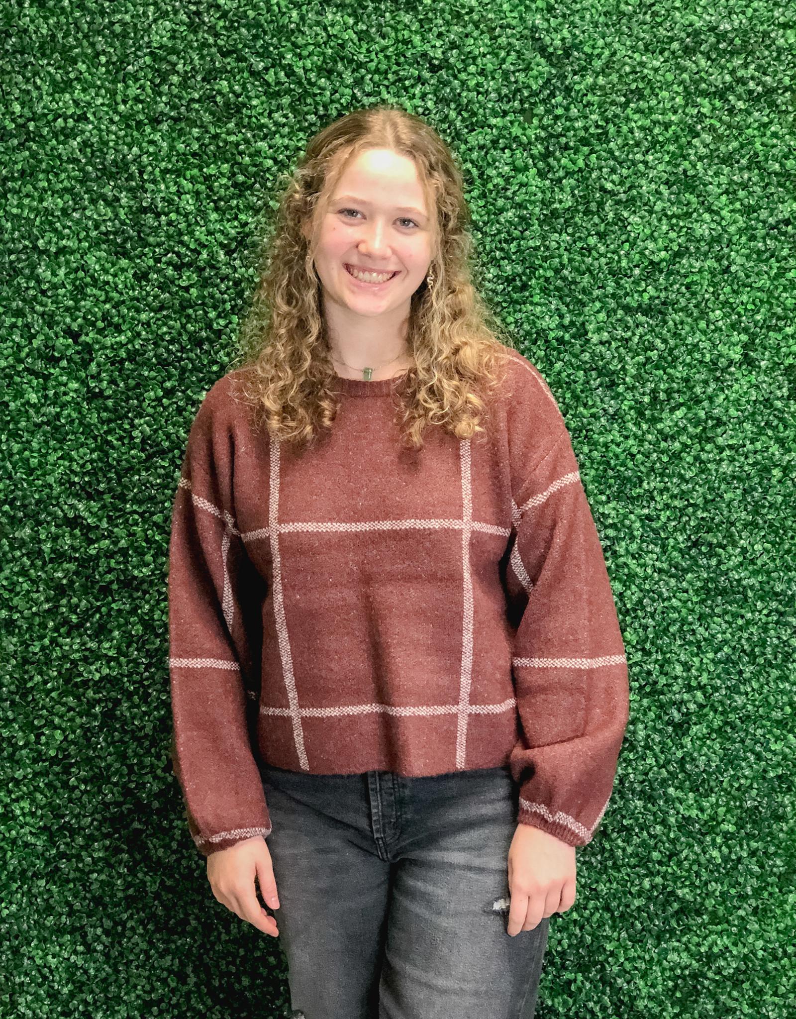 Solange Plaid Sweater