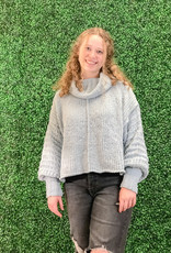 She + Sky Long Sleeve Cowl Neck Sweater