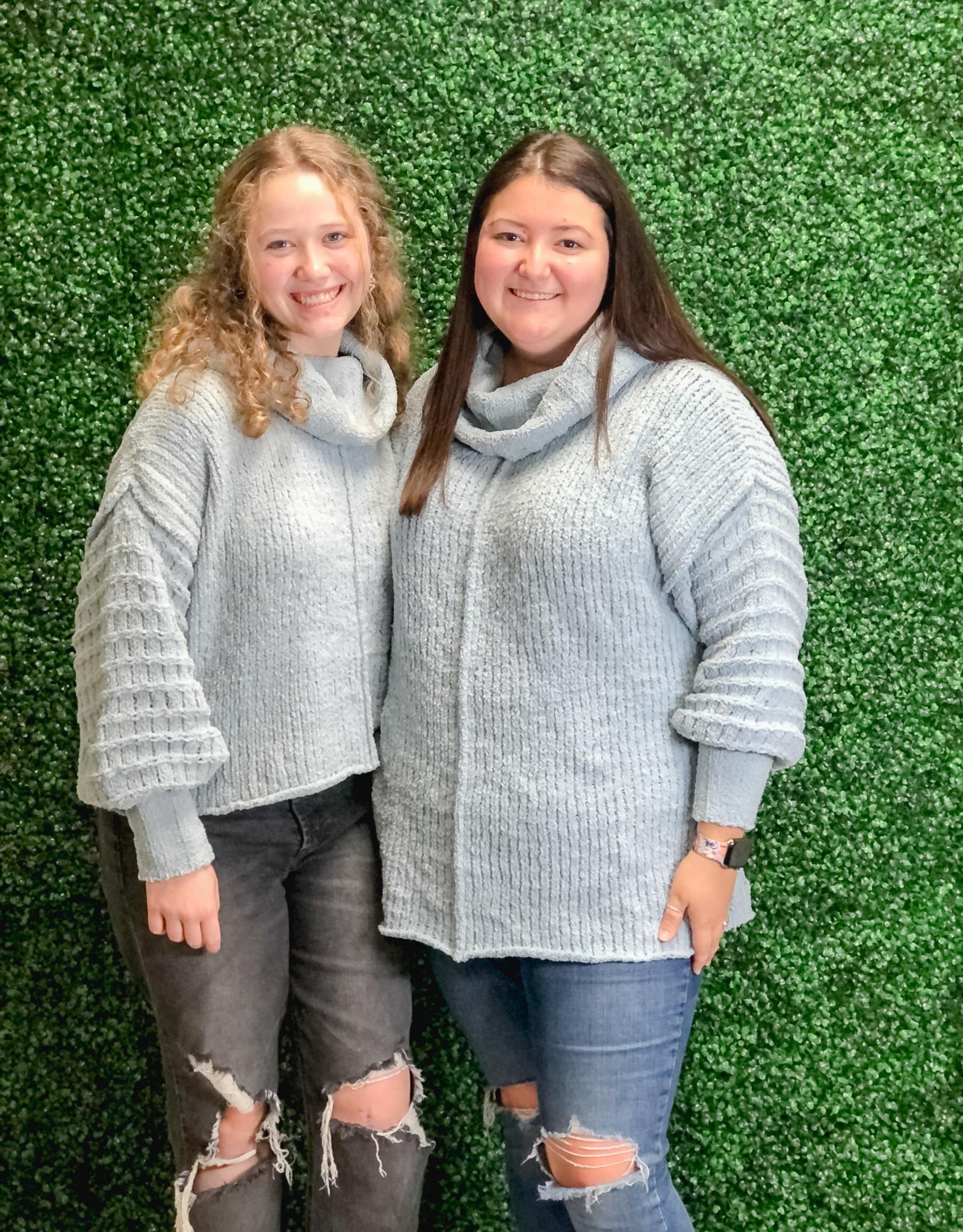 She + Sky Long Sleeve Cowl neck Knit Sweater
