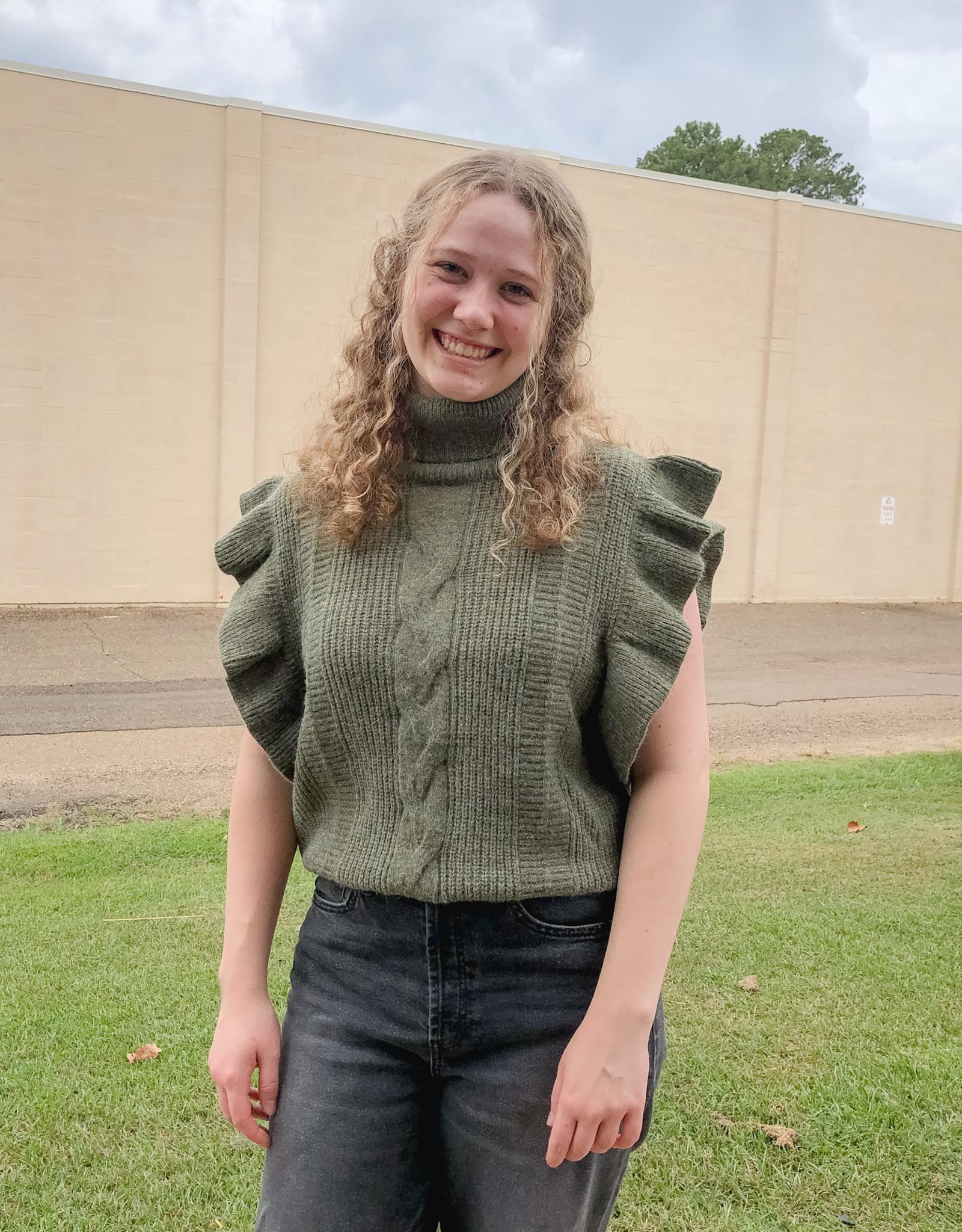 Turtle Neck Short Sleeve Sweater