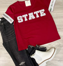 Sparkle City Co. State Sequin Jersey Tee