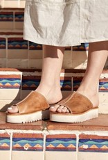 Fairlee Leather Slide Sandals
