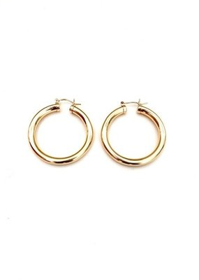 FTBM 14K GF Thick Gold Hoops