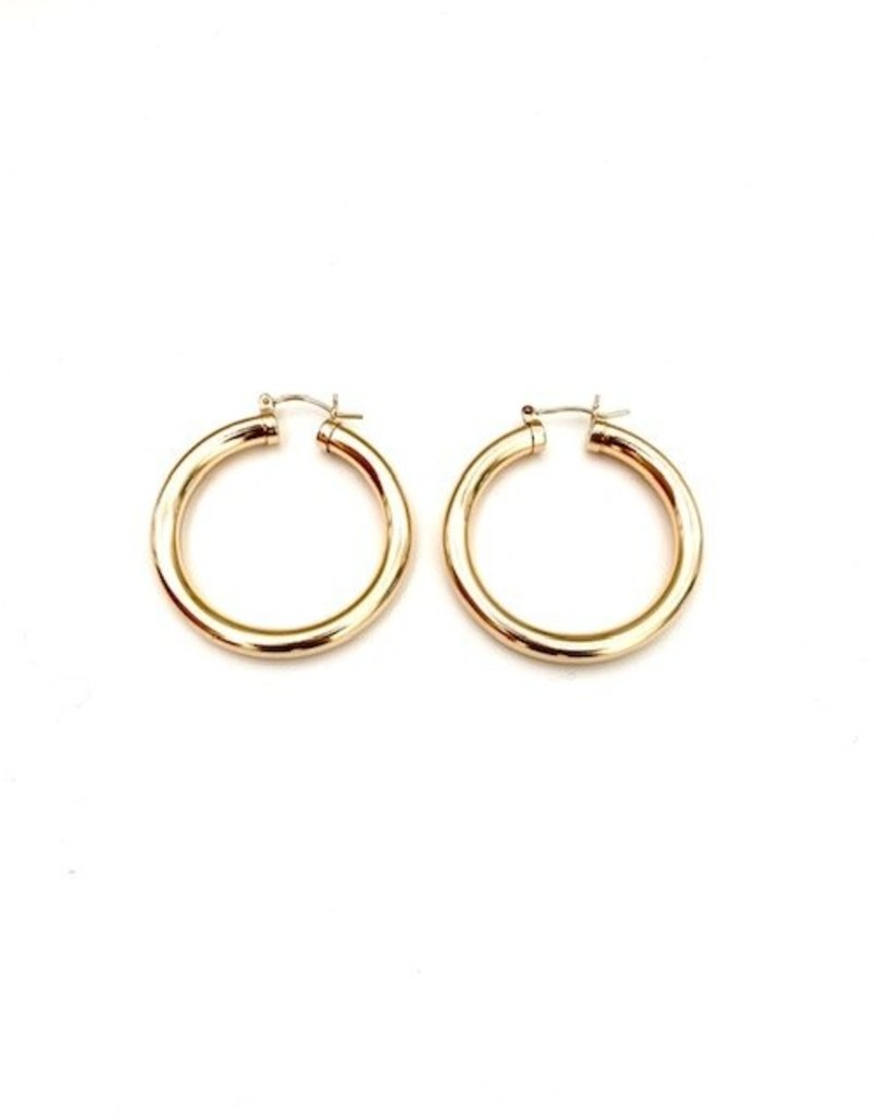 Thick Gold 30mm Hoops