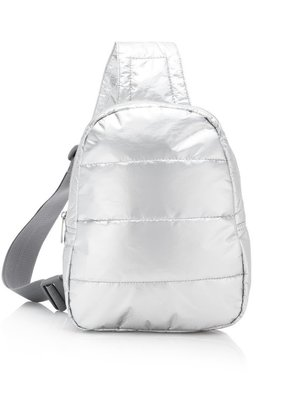 HLT 191002 Silver Cross body Backpack