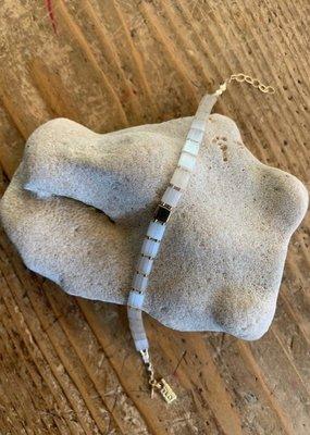 ILD MBTI3237 Milk and Honey Ice Tile Bracelet