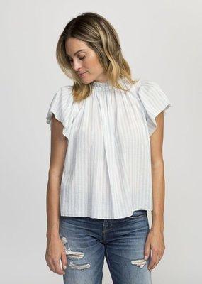 BOP Carla Hi Neck Flutter Sleeve Shirt