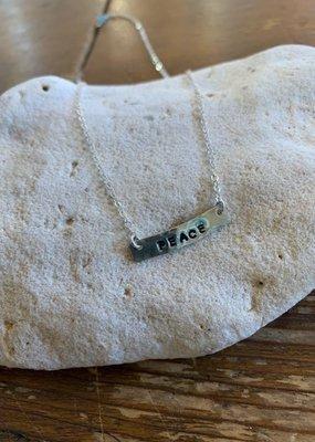 SS Handstamped Bar Necklace