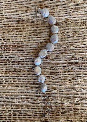 CL BS5846 Freshwater Pearl Link Bracelet