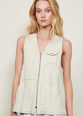 BT 20929 Washed Leather Vest