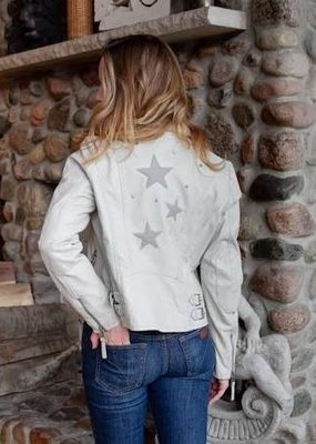 MAURITIUS Seera Leather Jacket with Stars