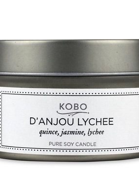 KOBO Travel Candle D'Anjou Lychee