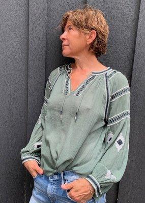 HARTFORD ARHS534 Helene Embroidered Top
