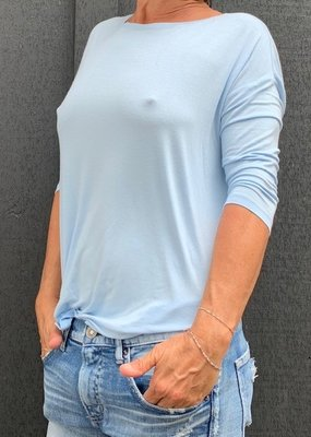 MAJ M002FTS142 Semi Relaxed Elbow Sleeve Crew